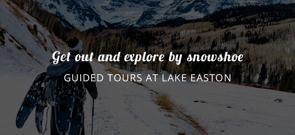 Get out and explore by snowshoe - Guided Tours at Lake Easton